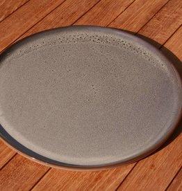 Simla plat bord keramiek grijsblauw dia 27 cm