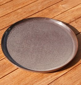 Simla dessert bord keramiek grijsblauw dia 20 cm