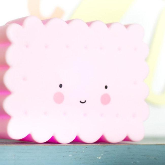 Mini koekjeslamp roze