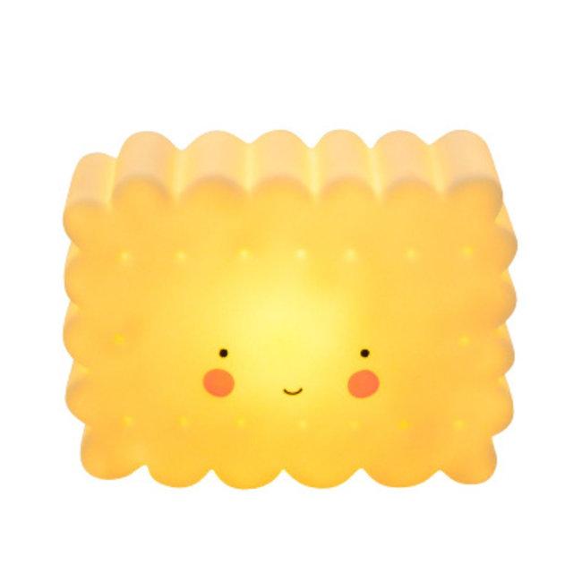 Mini koekjeslamp geel