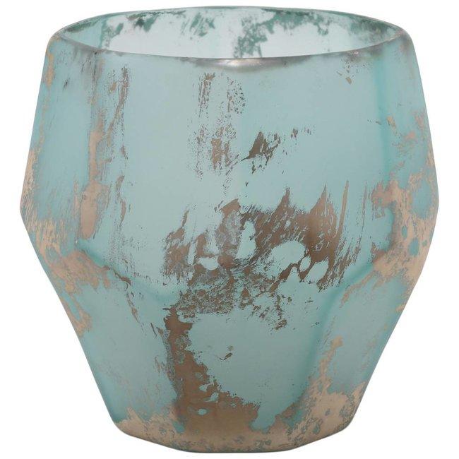 kosta blue organic shape glass stormlight L