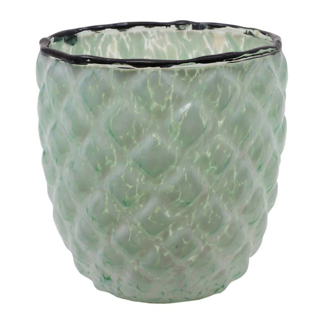 Delight green bombey glass tealight