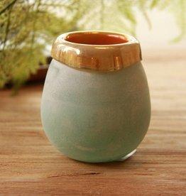 Mersh turqoise round glass s
