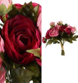 Boeketje ranonkel rood roze