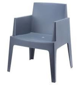 Boxstoel kleur donkergrijs