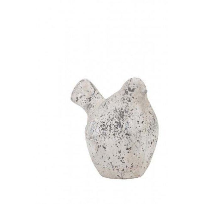 Waigo Vogel antiek grijs 15,5x12x16.5