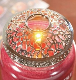 Yankee Candle Matrix brushed silver illuminatie lid