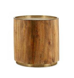 Koffietafel tub dark copper 45x45