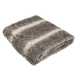 PTMD Softly Brown fake fur bed cover