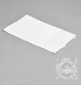 KST243 towel with embrodery white 30x50 set/3
