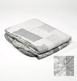 quilt/ boutis  lichtgrijs 180x240 + 1 kussensloop