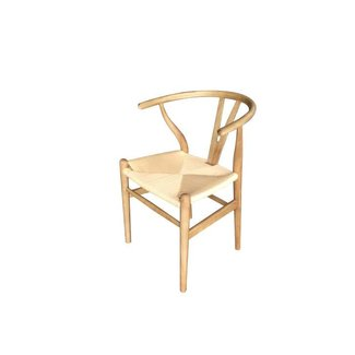 stoel naturel essenhout + naturel koordzitting