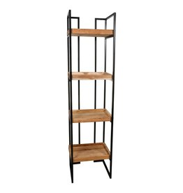 maia wood natural open cabinet iron frame rectang