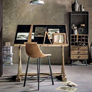 Dutchbone Counter chair   franky Brown