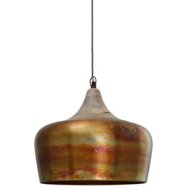 Danish copper Iron smooth hanging lamp round