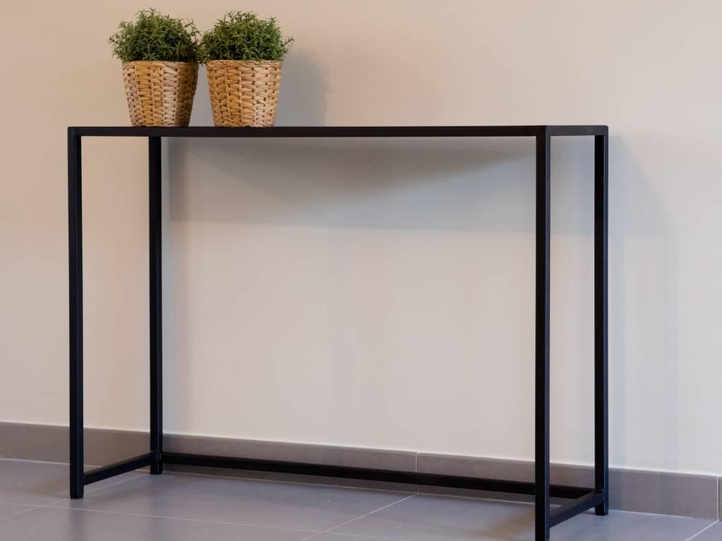 sidetable metaal zwart 80cm
