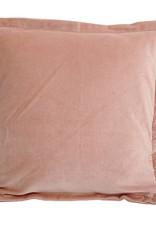 Bing soft pink velvet cushion & fill square