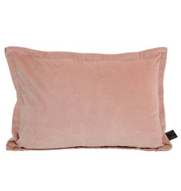 Bing soft pink velvet cushion & fill