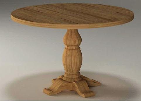 Ronde Tafel 130 : Ronde tafel teak indoor dia prabhu eunnick home