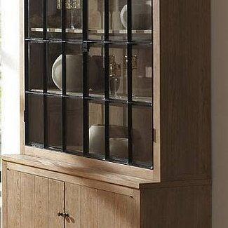 Alice vitrine weathered oak 150