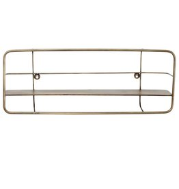 Jayz brass iron wall shelf rectangle