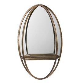 Mitzy brass mirror