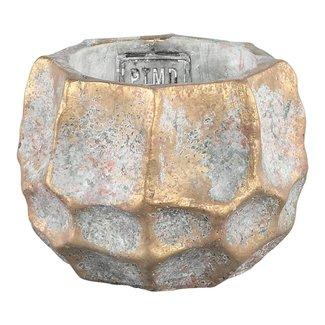 todd gold diamond cement pot round S