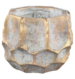 PTMD Todd gold diamond cement pot round M