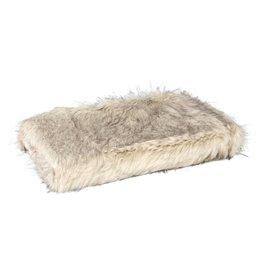 PTMD Noud cream long faux fur cushion rectangle