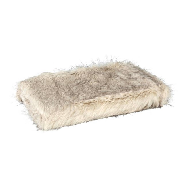 Noud cream long faux fur blanket 130x170