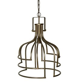 PTMD Denli brass iron hanging lamp open design round L