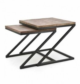 Coffee table zig zag set of2