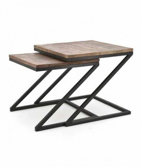 Coffee table zig zag set of2