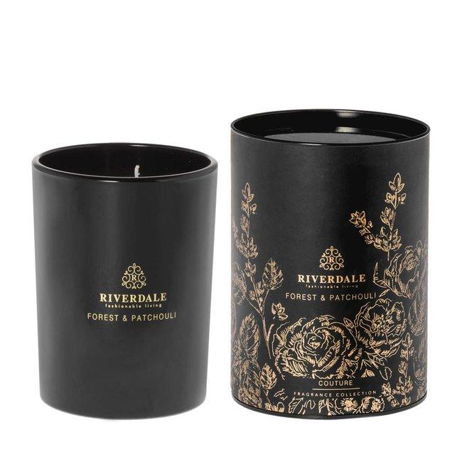 Riverdale Geurkaars couture zwart 15 cm