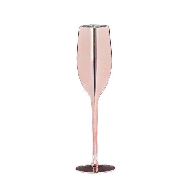 champagne glas celebrate roze 26 cm