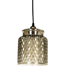 Vinzy gold glass hanging lamp with pattern
