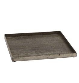 Metalen  koper vierkante plateau