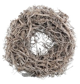 Willow natural wreath with light round s