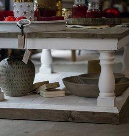 salontafel wit olm met grijs bovenblad