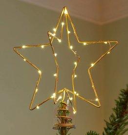 christmas top H 25 cm gold