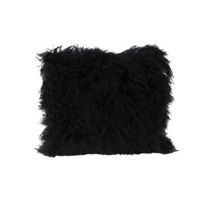 Kussen Tibetaans schaap zwart 40x40