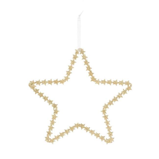 Deco star gold 20 cm