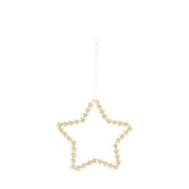 Deco star gold 10 cm
