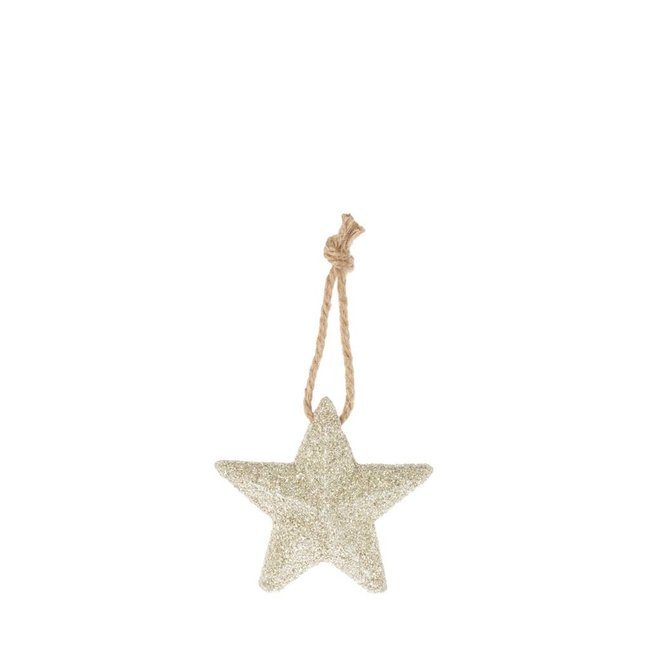 Deco Star zilver 11 cm