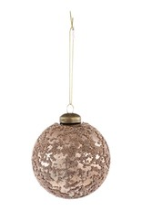Christmas gold glass ball with Brads s