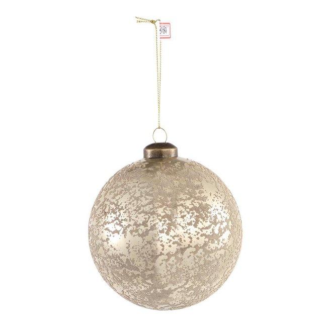 Christmas britt silver glass ball m