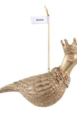 Christmas basile gold poly pheasant with crown