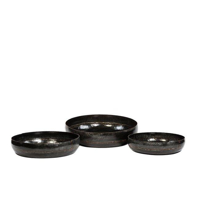 decoratieve bowl dia61.50x14cm black antique(large)