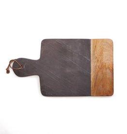 Snijplank steen hout zwart 47,5x27