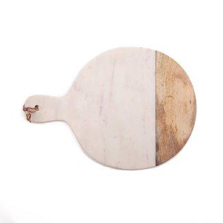 snijplank marmer/hout 47x35 cm